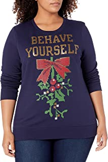 Just My Size womens Just My Size Women's Ugly Plus Christmas Sweatshirt Sweatshirt (pack of 1)