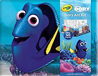 Crayola Finding Dory Art Kit Art Gift for Kids 5 & Up, 42-Piece Set, Includes: Markers, Crayons, Colored Pencils & Coloring Pages in a Travel-Friendly Case