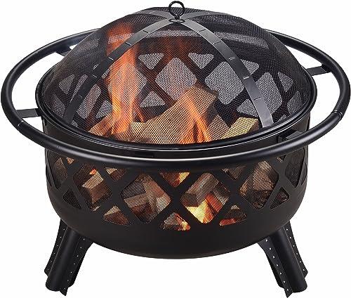 Braséro en acier pour brûler le bois diamètre du foyer 72 cm Peaktop CU296