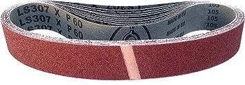 Banda de lija 10 unidades, 2 x P40, P60, P80, P120 y P180 LS 307 X Klingspor LS 307 X