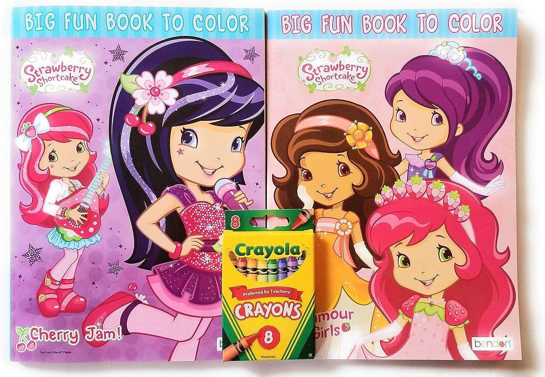 Strawberry half Colorado Springs Mall Shortcake Coloring Book 2 Includes Bundle -