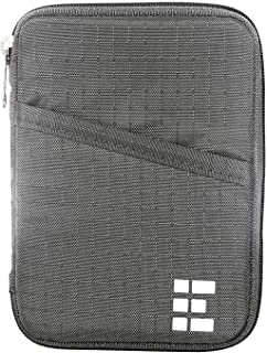 Zero Grid Passport Wallet - Travel Document Holder w/RFID Blocking (Shadow)