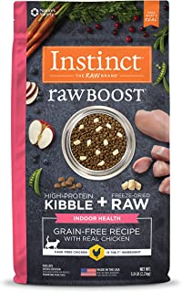 Instinct 6175869 Raw Boost Indoor Grain-Free Recipe with Real Chicken Dry Cat Food, 5lb