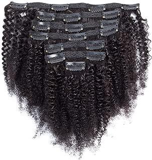 Afro Kinky Curly Clip ins Human Hair Extensions Full Afro Curly Clip in Human Hair Brazilian Virgin Hair 4B 4C Hair For Black Women 100g 7pcs 12
