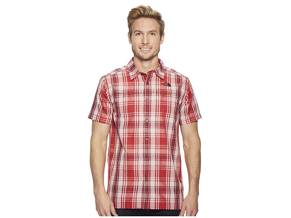 The North Face Short Sleeve Vent Me Shirt (Rage Red Plaid) Men