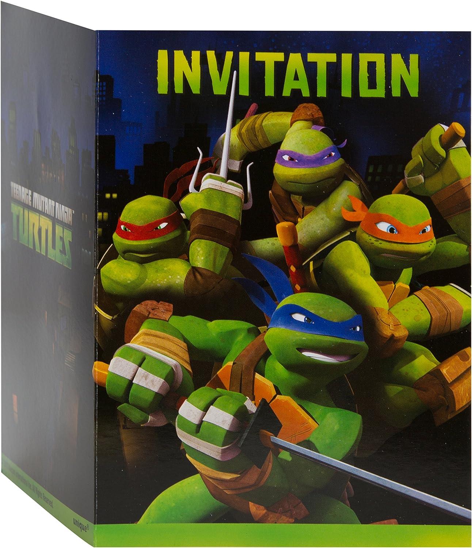 TMNT Party Invitations [8 Per Pack] B00DGY34KA Bevorzugtes Material   Wonderful