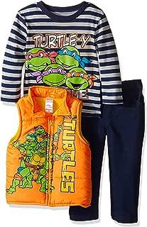 Nickelodeon Boys' Toddler Boys' Teenage Mutant Ninja Turtle 3 Piece Vest Set with Camo Pants and T-Shirt