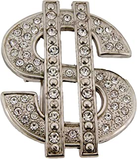 Dollar Sign Bling Hip Ice Out Usa Men's Unisex Belt Buckle Women's New