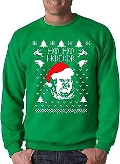 New Way 780 - Crewneck Ho Ho Hodor Game Of Thrones Ugly Christmas Unisex Pullover Sweatshirt