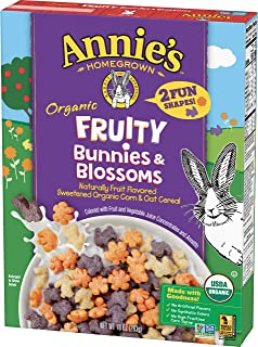Annie's Homegrown Homegrown Organic Fruity Bunnies & Blossoms Cereal, 10 Oz