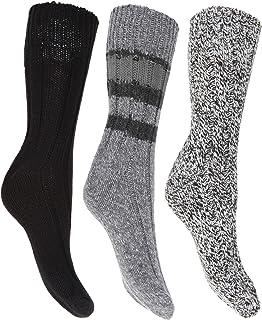 Floso, Calcetines térmicos gruesos con lana (pack de 3) para mujer