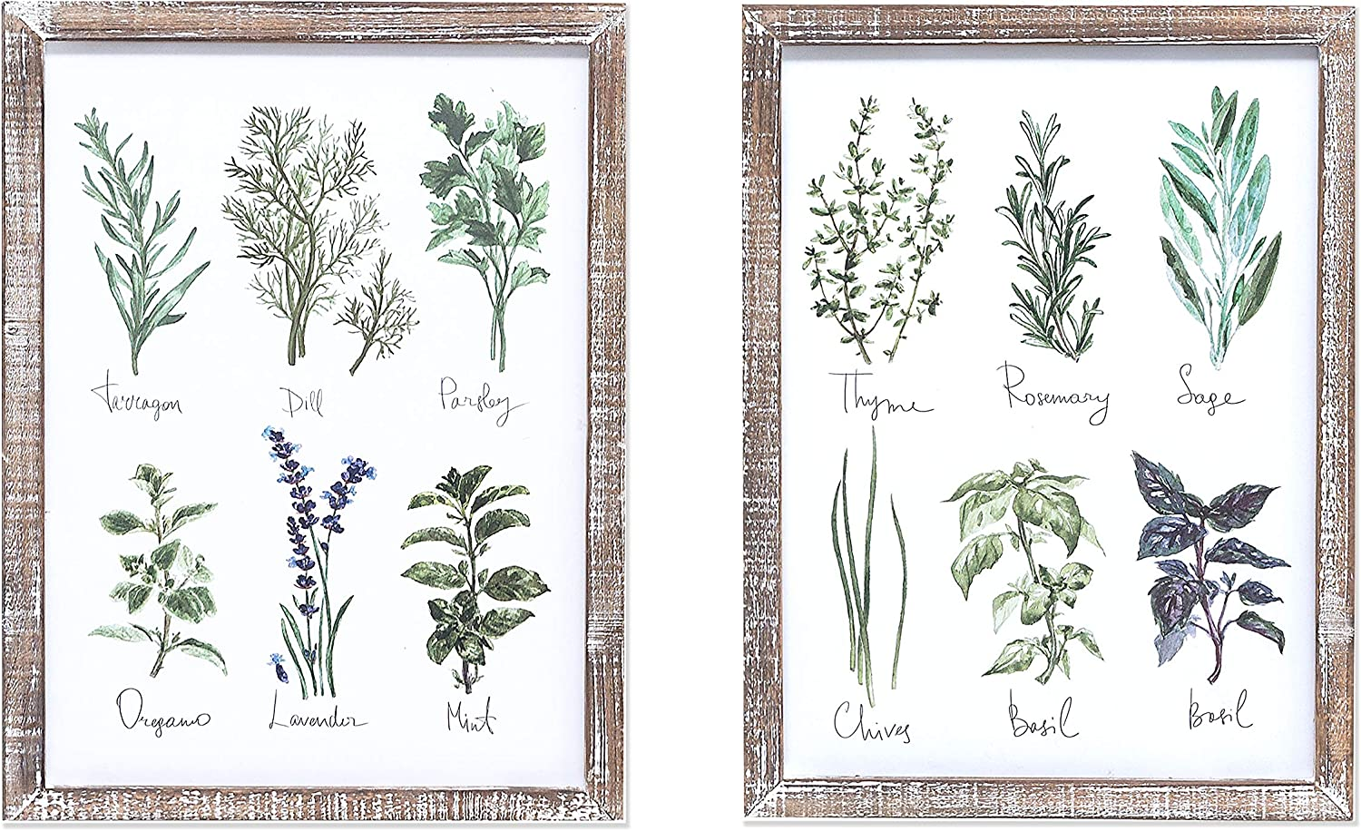 Barnyard Designs Vintage Herb and Framed P Wood All items free shipping Columbus Mall Spices Botanical