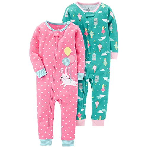 5f2f5e526 Carter's Baby Girls' 2-Pack Cotton Footless Pajamas