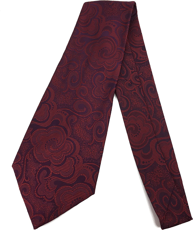 College Art Deco Vintage Tie - Jacquard Weave Wide Kipper Necktie