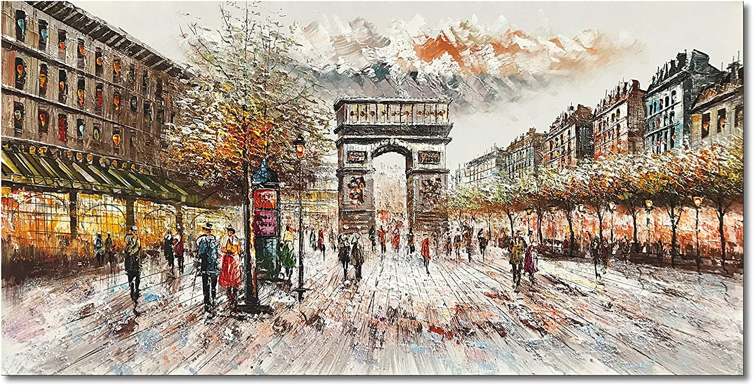 Epicler Hand-Painted Acrylic Fashion Canvas Frame Painting Wall Oil Art Luxury goods