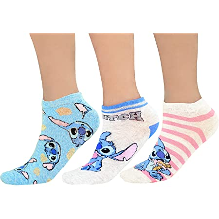 Lilo and Stitch 3 Pairs Ladies Ankle Socks