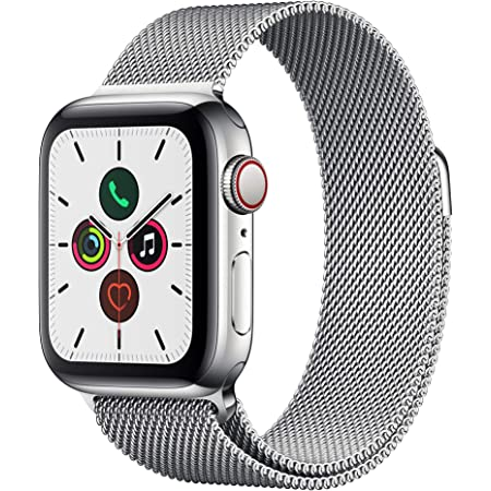 Apple Watch Series 5 (GPS+Cellular, 40mm) -  Stainless Steel Case with Milanese Loop