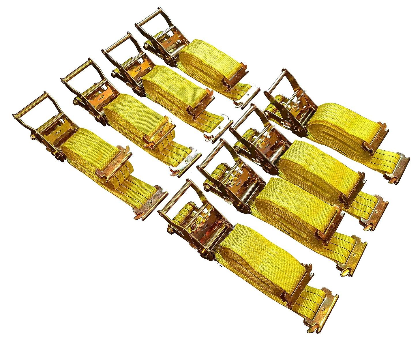 8 Pack E-Track Ratchet Straps 2