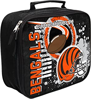 THE NORTHWEST COMPANY Officially Licensed NFL Accelerator Lunch Kit Bag, Black, 10.5