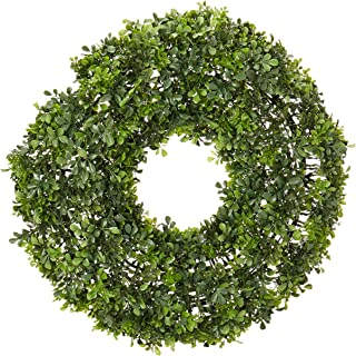 """Nearly Natural 4554 22"""" Boxwood Wreath"""