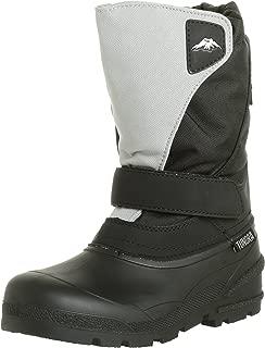Tundra Kids Quebec Child Winter Boots, Black/Grey, 13 M US Little Kid