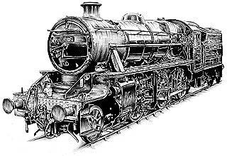 Steam Engine Vintage Train Edible Cake Image Topper 1/4 Sheet