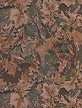 York Wallcoverings Lake Forest Lodge Real Tree Classic Camoflage Removable Wallpaper, Green