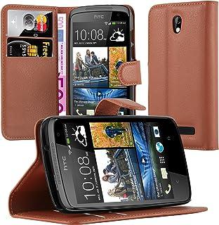 Cadorabo Fodral kompatibelt med HTC Desire 500 i CHOKLAD BRUN - Skyddsfodral med Magnetfäste, Stativfunktion och Kortplats...