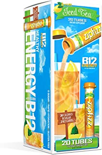 Zipfizz Healthy Energy Drink Mix, Hydration with B12 and Multi Vitamins, Lemon Iced Tea, 20 Count