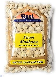 Rani Phool Makhana (Fox Nut / Popped Lotus Seed) 3.5oz (100g) ~ Plain Raw Uncooked