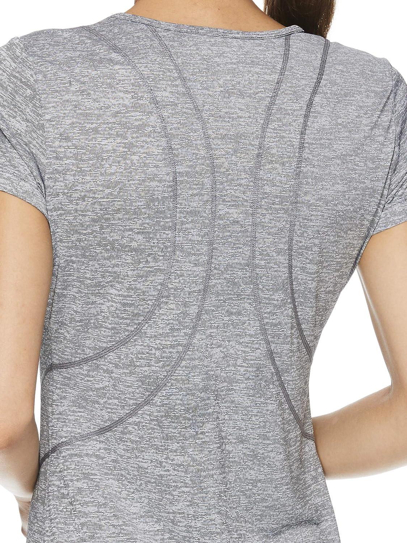 Reebok Women/'s Fitted Performance Feeder Stripe T-Shirt