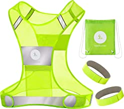 RoadRunner New 360° Reflective Running Vest Gear for Men and Women – Visibility Vest with Pocket, Bands, and Bag for Night...