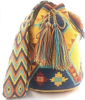 Colombian Handbags, Mochila Wayuu, 100% Original Colombian Cotton Handmade Bucket Bag. (DESING) PRUEBA
