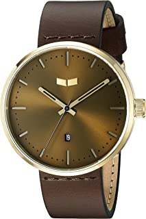 Vestal Unisex RST3L04 Roosevelt Leather Analog Display Quartz Brown Watch