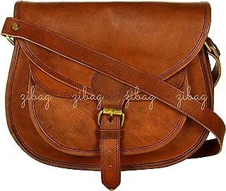 Leather Vintage Cross Body Purse Shoulder Sling Leather Bag
