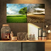 Global Warming Landscape on Canvas Art Wall Photgraphy Artwork Print