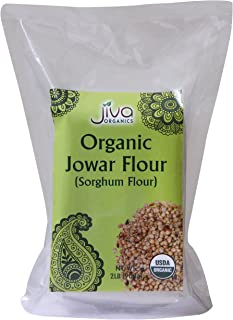 Jiva USDA Organic Sorghum Flour (Jowar Flour) 2 Pound Bag
