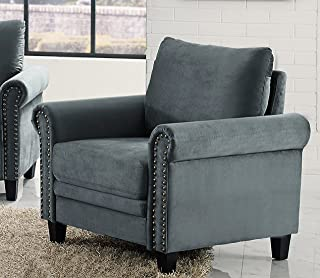 LifeStyle Solutions Arlington Chair, Charcoal Grey