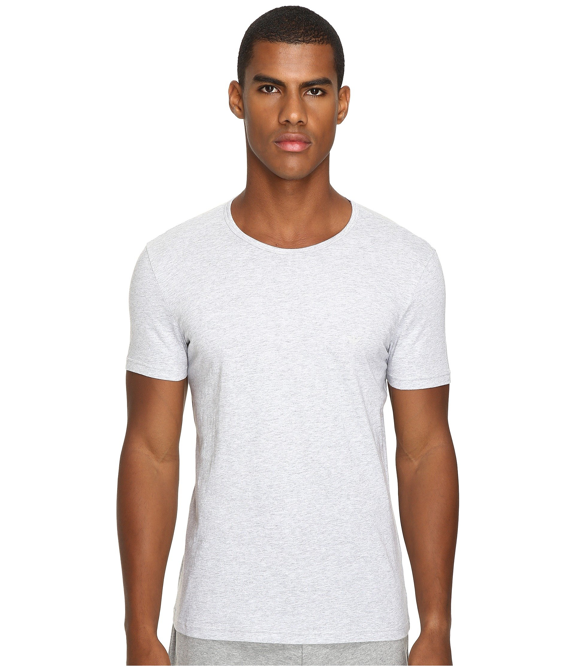 grey Melange navy Emporio pack Crew shirt Neck Armani T 3 White nwqZa