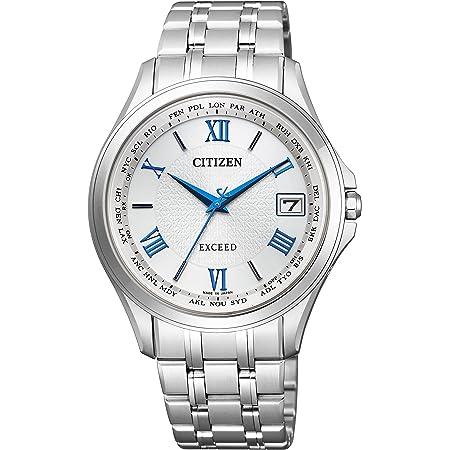 [シチズン] 腕時計 エクシード エクシードエコ・ドライブ電波時計 日中欧米電波対応 ペア CB1080-52B シルバー