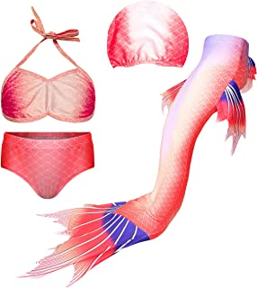Ragazza,Bambina ed Adulti HUTUTU Coda da Sirena con Monopinna per Nuotare