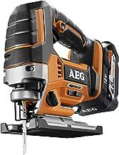 AEG 4935459656 Brushless BST18BLX-402C - Sierra de calar inalámbrica (18 V, iluminación LED, 5 velocidades, 2 baterías de 2 Ah)