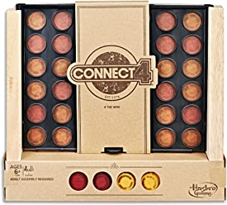 Connect 4 - Wooden Rustic Series Edition - 4 in a Row - Family Board Games and Toys - Ages 6+