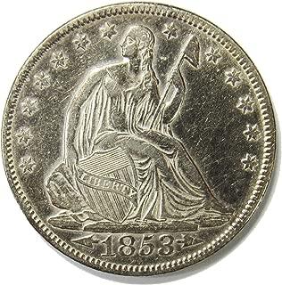 1853 Seated Liberty Half Dollar w/Arrows & Rays 50¢ XFAU