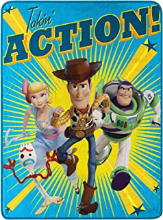 "Toy Story Takin Action Micro Raschel Throw Blanket, 46"" x 60"""