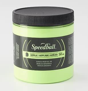 Speedball 1483703 Screen Printing Ink, 8 oz. Capacity, Acrylic, Fluorescent Lime Green