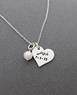personalized mommy jewelry hand stamped