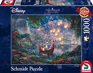 Schmidt - SCH-59480 - Disney Rapunzel, 1000 stukjes Puzzel - vanaf 12 jaar - disney puzzel - van Thomas Kinkade