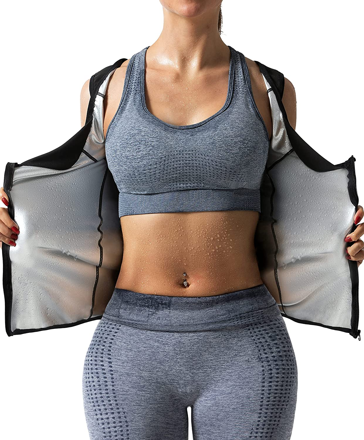 DYUAI Sauna 2021 Sweat Vest for Women Trapping Workout Top Heat Excellent Tank