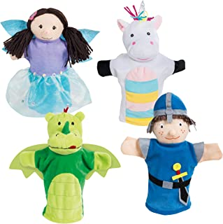 Roba 9713 Roba Hand Puppets Set, Plush Hand Puppets Pack of Children's Puppet Theatre and Puppets/Set Includes Fairy, Unic...